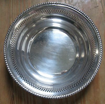 Vintage Baldwin & Miller B & M Piereced Sterling Silver Bowl Candy Dish #66