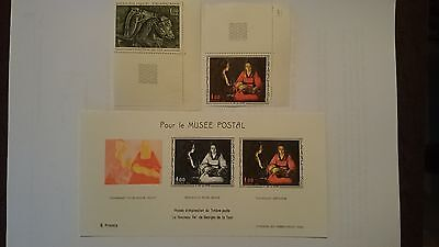 Timbres serie artistique1966 +feuillet special