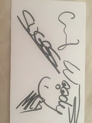 Hand Signed Madness White Card