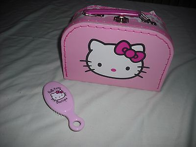 BNWT Chad valley design a bear hello kitty vanity carry case with hairbrush