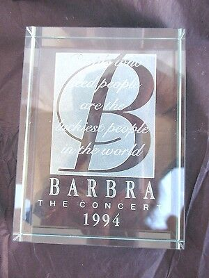 BARBRA STREISAND..1994..THE CONCERT..GLASS..PAPERWEIGHT..NEW in BOX