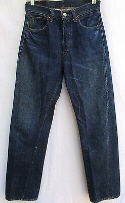 ORIGINAL VTG..1960's..BIG E..LEVIS..SINGLE STITCH..501..REDLINE..DENIM..JEANS