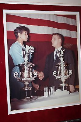 1962 Roger Maris & Wilma Rudolph Signed 17x25 Custom Framed Display PSA/DNA LOA