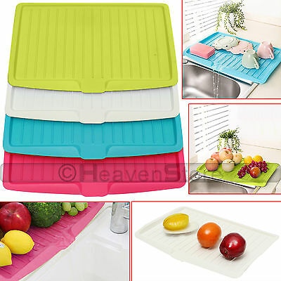 Plastic Dish Drainer Drip Tray Plate Cutlery Rack Kitchen Sink Rack Holder Large