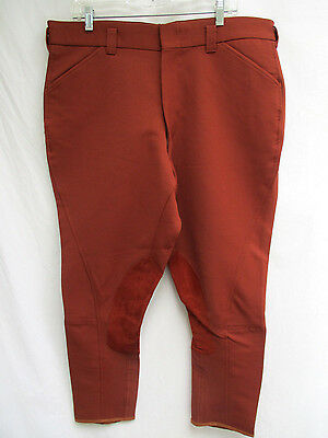 Vtg..men's..equestrian..horse Riding..maroon..pants / Breeches..new Old Stock.40
