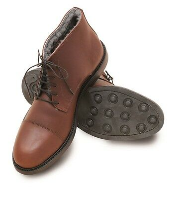 Mens Laksen Stamford Fur Lined Boots - chocolate - UK 7, 8,9,10,10.5 - new