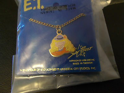New E.T. Extra Terrestrial Movie ET Wig Costume Necklace Gold Tone
