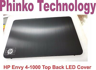 NEW LCD TOP Back Cover Rear Case for HP Envy 4 Envy 4-1000 Black