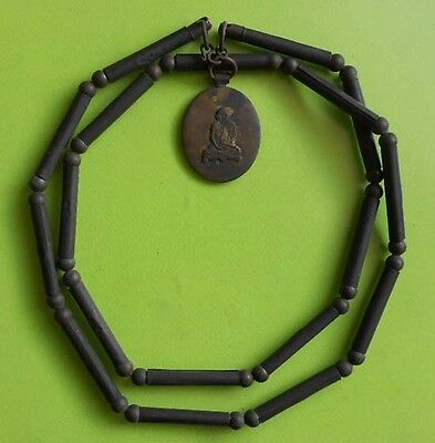 Top! Necklaces Trakrood Lp Derm Antique Thai Amulet Very Rare !!!