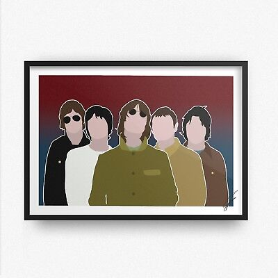 Oasis INSPIRED WALL ART Print / Poster A4 A3 liam noel gallagher WONDERWALL