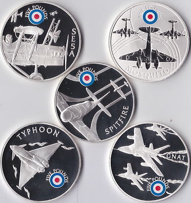 2008 £5 Silver Proof History of the RAF Collectors Coins .925 COA Planes Bullion