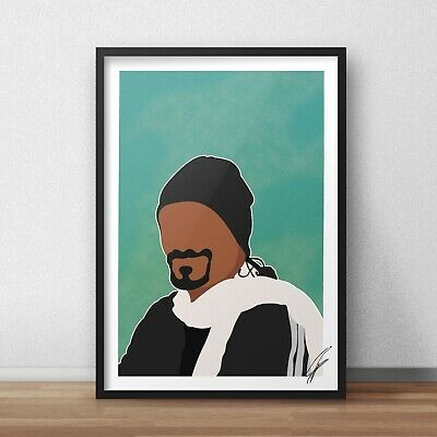 Snoop Dogg INSPIRED WALL ART Print / Poster A4 A3 weed The Chronic SNOOP LION