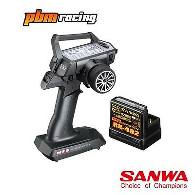 Sanwa MT-S RC Car 2.4Ghz Transmitter With One RX-482 Receiver SA101A31971A