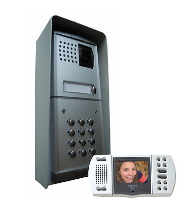Door Phone Bell Color Video Door Entry System Intercom Hands Free Keypad Farfisa