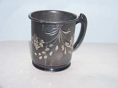 Antique Childs Cup By Britannia Co. Quadruple Plated Silver Metal #2054