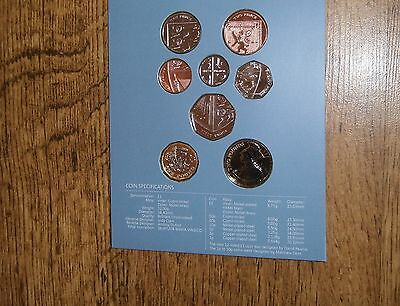2017 Royal Mint Brilliant Uncirculated Definitive 8 Coin Set - with new £1 pound