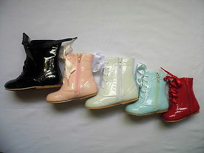 Spanish Patent Baby Girl/toddler Boots