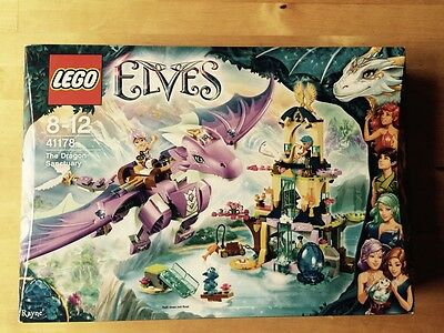 New Retired Lego Elves 41178 The Dragon Sanctuary Il Santuario Del Dragone; Raro