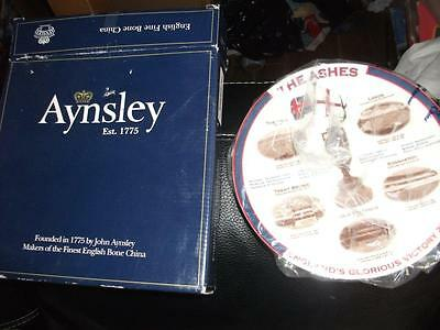 "Aynsley bone china england  the ashes  Winners 2005 Commemorative 8"" plate"