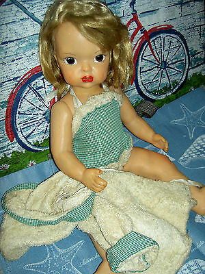 "Vintage 1950s, hard plastic, 16"" Terri Lee Patent Pend. doll & 3 tagged outfits"
