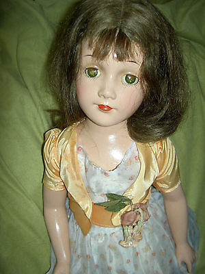 """GORGEOUS, large 22,"""" Arranbee R&B """"DEBUTEEN"""" composition & cloth sgnd. doll"""