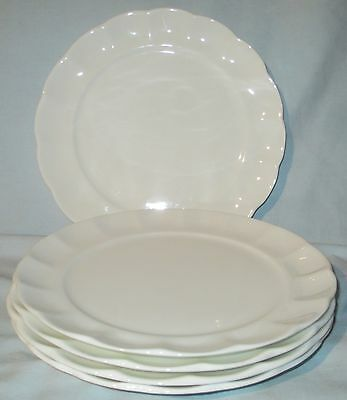 Roscher White Scalloped Salad Plate set of 5
