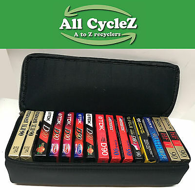 15 Blank 90 min Audio Cassette Tapes-Various Brands-with case New!