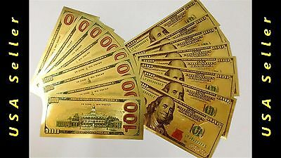 24K Pure .999 GOLD US New Style 100 Dollar Bill (ONLY 90 CENTS EACH)