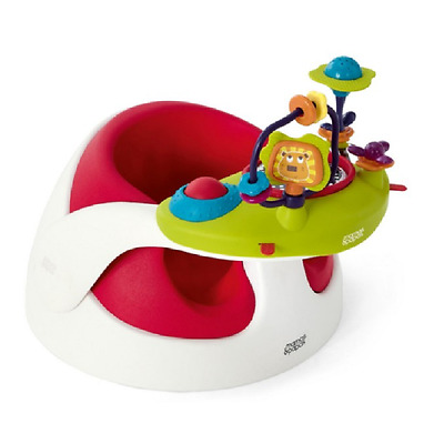 Mamas and Papas - Baby Snug Floor Seat - RED and Play Tray - Brand New in Box