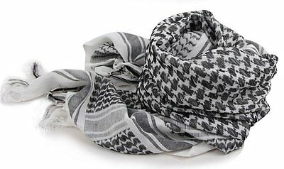 Black and White Arab Scarf Scarves Scarf Shawl 100% Cotton Unisex Thicker