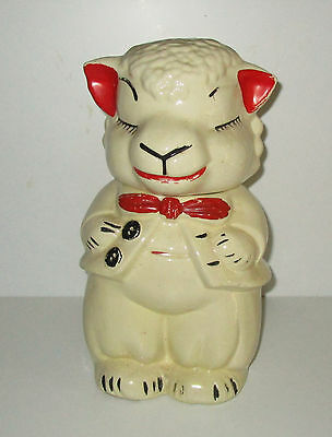 Rare Hard to Find Vintage Sheep Turnabout Cookie Jar 1940s Excellent