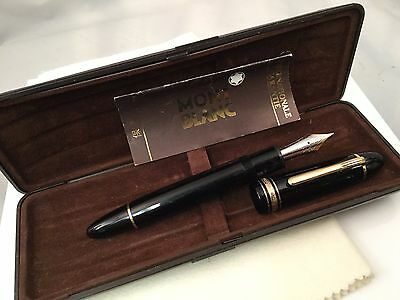 Montblanc Meisterstuck Diplomat Fountain Pen 149 Medium 14C Nib 1970s Ebonite