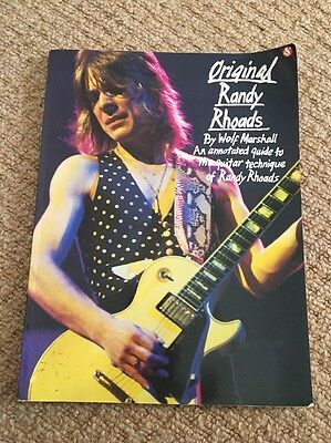 Original Randy Rhoads Annotated Guide To The Guitar Techniques Of randy rhoads
