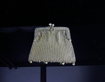 Antique Victorian Silver Mesh Chatelaine Purse