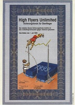 Jux-Aktie – HIGH FLYERS Unlimited – Fonds-Anteil – SCHERZ-Papier !