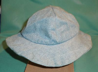 Puppenhut Jeans / doll hat light blue denim