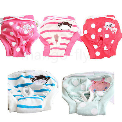 Pet Dog Cat Puppy Diaper Pants Physiological Sanitary Short Panties Underwear