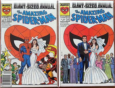 Amazing Spider-Man Annual #21 Wedding Key 2 Cover Set Newsstand & Direct Market