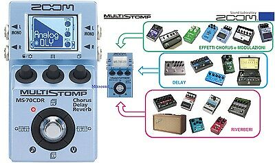 ZOOM MS70 CDR MultiStomp Pedale Multieffetto Chorus Delay Reverb  per CHITARRA