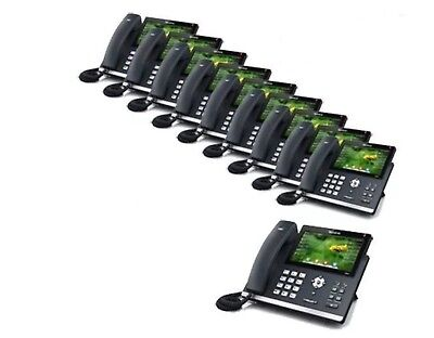 "MAKE ME AN OFFER 10-PACK Yealink SIP-T48S GB Voip Phone 7"" Touch 16-Line"