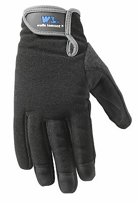 Wells Lamont Synthetic Leather Work Gloves High Dexterity Medium 2 Pair Pack ...