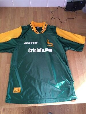 NOTTINGHAMSHIRE NOTTS OUTLAWS EXITO CRICKET SHIRT JERSEY TOP Large