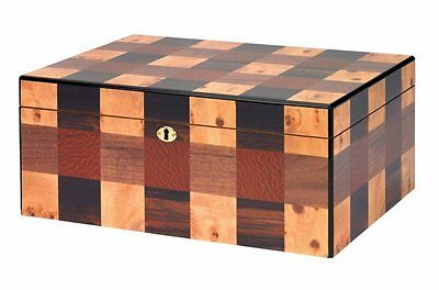 OTHELLO Cigar HUMIDOR with Hygrometer and Humidifier - 100 Cigars