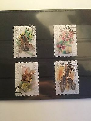 1989 Soviet Union Bees Stamp Set. Mint Cancelled USSR/CCCP