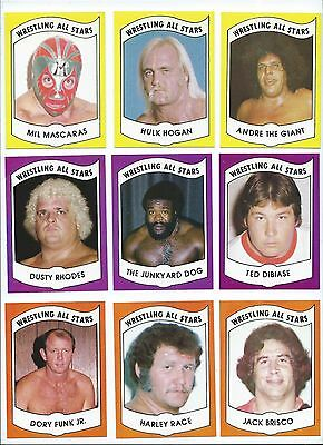 1982 Wrestling All Stars Complete Set (72) Hulk Hogan Andre the Giant Ric Flair