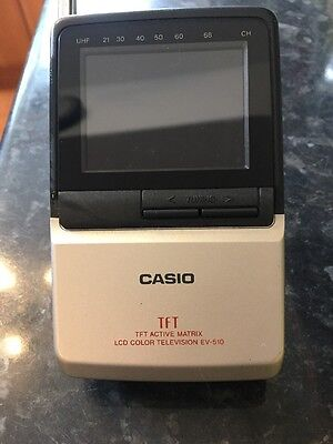 Retro Casio EV-510 LCD Pocket PAL SYSTEM COLOR TELEVISION