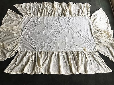 Matteo Home Baby Nursery Vintage Linen Ruffled Crib Skirt Restoration Hardware