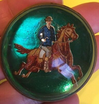 Vintage Antique Hunting Horse Brooch Pin Cameo Collectible Jewelry Horses Englis