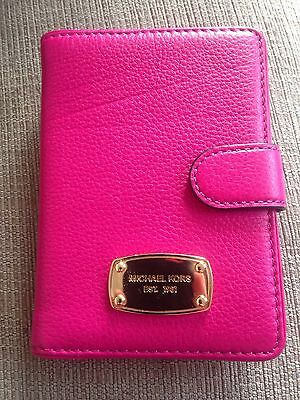Michael Kors Pink Pebble Passport Holder