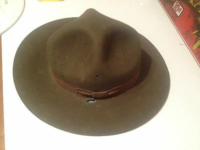 World War I U S Army Officer Cap Hat original military gear Fair Shape